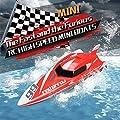 Etbotu Coole 2.4G Kinder Spielzeug 4 Funktionen Mini RC Speedboat Boot Fernbedienung Spielzeug für Jungen Kinder von Etbotu