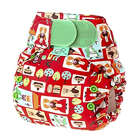 Tots Bots 8-35 lb Easy Fit Hook and Loop Nappy Sixpence Print