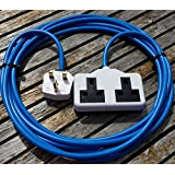 10 METER 2 WAY HEAVY DUTY ELECTRICAL GARDEN EXTENSION CABLE WHITE CONNECTION by Hardware Warehouse Ltd