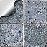"""Tile Style Decals 24 stück Fliesenaufkleber für Küche und Bad NTP08 6"""" Greys S Mosaik Wandfliese Aufkleber für 15x15cm Fliesen Fliesen-Aufkleber Folie für Küche"""