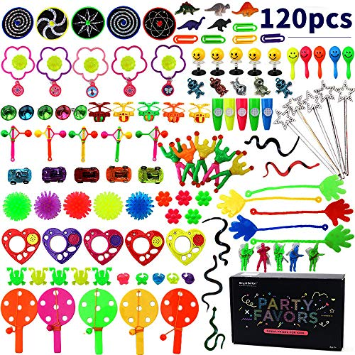 (Amy& Benton 120 stücke Kinder Geburtstagsfeierbevorzugung Spielzeug sortiment, kleine Geschenke Party Tasche füllstoffe Pinata Spielzeug für Kinder Mädchen Jungen)
