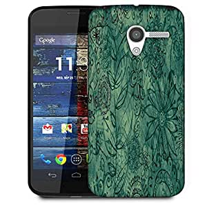 Snoogg Abstract Floral Design Designer Protective Phone Back Case Cover For Moto X / Motorola X