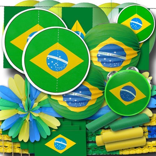 ordeno.eu Partyset Brasilien Dekoset groß