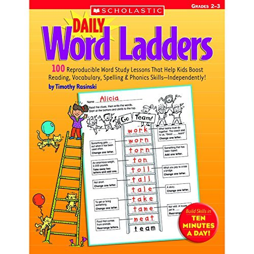 Daily Word Ladders: Grades 2????????????????????????????????????????????????3: 100 Reproducible Word Study Lessons That Help Kids Boost Reading, Vocabulary, Spelling & Phonics Skills????????????????????????????????????????????????Independently! by Timothy Rasinski (2005-10-01)
