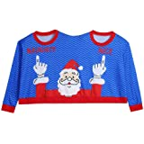 Adults Fun 2 in 1 Naughty and Nice Christmas Jumper Green