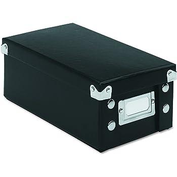 Boîtes noires pour rangement de fiches Snap-N-Store 3 x 5 Inches Noir