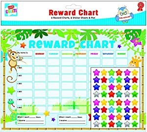 6 x Reward Charts Childrens Jungle