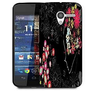 Snoogg Flower Girl Designer Protective Phone Back Case Cover For Moto X / Motorola X