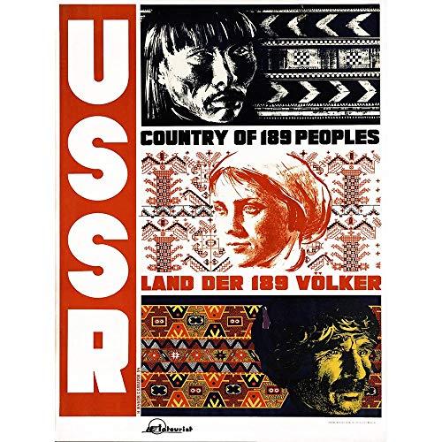 vel USSR Soviet Russia People Ethnic Land Folk Germany Art Print Poster Wall Decor Kunstdruck Poster Wand-Dekor-12X16 Zoll ()