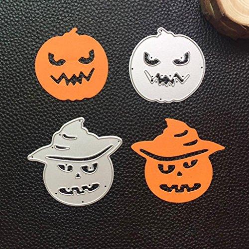 Cywulin Happy Halloween Metall Stanzschablone Schablone Scrapbooking Prägung Album für DIY Prägung Scrapbook Album Papier lustige Karte Dekoration Craft (F)
