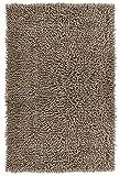 Lashuma Badeteppich Braun Grau - Taupe Chenille | Moderne Duschvorleger | 100% Baumwolle | 50 x 80 cm