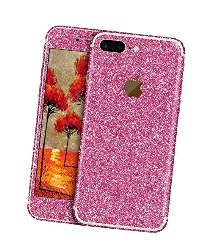 Stillshine écran autocollant bling pleine case coque du film de protection brillant pour le corps pour iPhone 7 Plus (Rose 2)