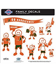 NCAA Miami Hurricanes Family Character Decals, Large