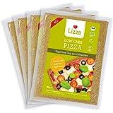 Lizza Bio Low Carb Pizzateig aus Leinsamen und Chiasamen. Glutenfrei. Vegan. Fertig. (4 x 180g Pizzateig)