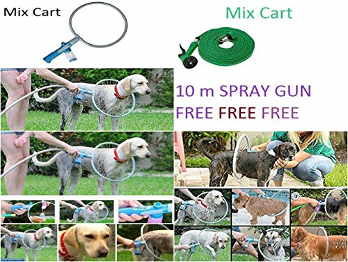 Mix Cart Dog Cat Bathing Cleaner Shower Kit Shower Tool Cleaning Washer Ring