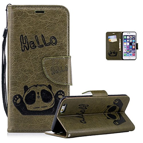 Vectady für iPhone 6 Plus/iPhone 6S Plus [NO für 6/6S] Hülle, Handyhülle Ledertasche Handytasche Case Klapphülle Magnet Geldbörse Cover Leder hülle für iPhone 6 Plus/iPhone 6S Plus,Vintage Grün