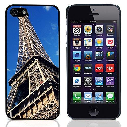 Graphic4You Paris At Night Skyline View Postkarte Ansichtskarte Design Harte Hülle Case Tasche Schutzhülle für Apple iPhone 5 und 5S Design #1