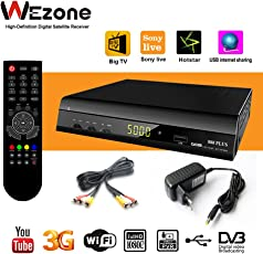 wezone Digital Satellite Receiver 888 Plus Free to Air DVB-S2 Set Top Box Mpeg-4 Full HD with Wi-Fi Support