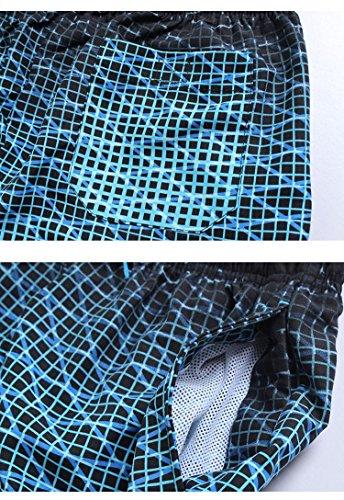 Pantaloncini Da Spiaggia Uomo Asciugatura Rapida Costumi Da Bagno Traspirante Pantaloncini Shorts Blu