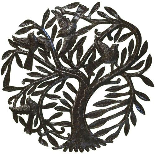 Le Primitif Galerien haitianischen recyceltem Stahl Öl Drum Outdoor Decor, 23von 23, Swirl Baum (Öl-swirl)