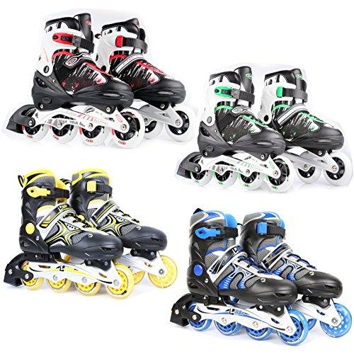 Kinder Inlineskates Rollerblades Skater Rollschuhe verstellbar 31-34 Farbauswahl