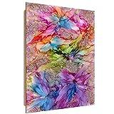 Feeby - Bloomnjazz -Farbe Abstrakt - Wandbild - Deco Panel Bild - Größe: 50x70 cm - Rot Violett Rosa Blau