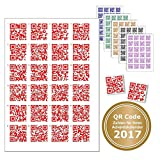 24 Sticker with QR Code For Every Job or Text. Code with Rake for finding the right Door Chens – Advent Calendar QR-Codes rot