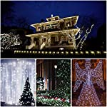 [2 Pack] BOLWEO Solar Powered String Lights,Solar Fairy Lights,16.4Ft 50LEDS,Waterproof Wire Lighting for Indoor Outdoor Christmas Tree Halloween Home Garden Decoration(Cool White) 13