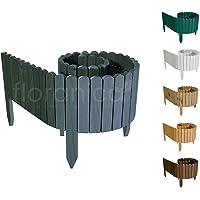 Floranica® Rollborder   Clôture en Bois Flexible   203cm   Hauteur: 10cm   Anthracite   Imprégné   Pin   Palissade…