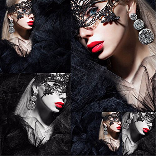 Lace Pink Maske (Yiwu Yonger EU Schwarze Sexy Dame Lace Venetian Masken Maskerade Maske Mardi Gras Party Ball Maske Erwachsene Masken Stil)