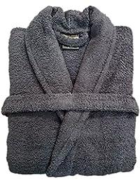Spa Collection Home para hombre y mujer 100% algodón 550 gsm Rizo adultos cuello bata
