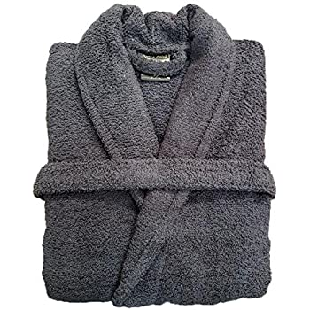 AMBRAT Mens & Ladies 100% Cotton Terry Towelling Shawl Collar ...