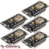 AZDelivery  5 x NodeMCU Lua Lolin V3 Module ESP8266 ESP-12E WiFi WiFi Development Board mit CH340 und gratis eBook!