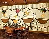 Restaurant Cafe Theme Hintergrund Wandmalerei Küchentapete Dessert Shop Wandbild 3D Bäckerei Tapete Benutzerdefinierte Größe Seidenstoff Material Wapel 250X160Cm(98.43X62.99 In)