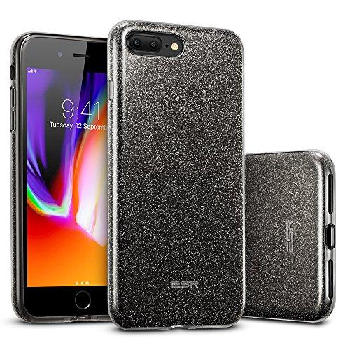 ESR iPhone 8 Plus Hülle, iPhone 7 Plus Hülle, Luxus Glitzer Bling [Glänzende Mode][Ultra Dünn] Designer Schutzhülle für Apple iPhone 8/7 Plus 5.5 Zoll 2017 Freigegeben. (Schwarz) …