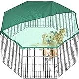 Pet Play Pen Dog Puppy Cage Folding Run Fence Garden Crate Indoor Outdoor