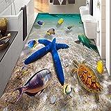 Kicode PVC 3D Adesivo Stickers Floor Decals Wall Removable Vivid Tool Decorazione della decalcomania della spiaggia del mare
