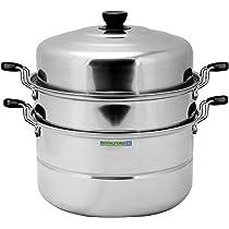 رويال فورد RF5014 وعاء طهي على البخار متعدد الاستعمالات يتكون من طبقتين - 30سم و 9لتر، فضي