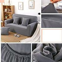 LY&HYL Tessuti per la casa più spesso lavoro a maglia divano Protector divano stretto involucro (Grigio Su Misura Seat Covers)