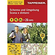 3D-Wanderkarte Schenna und Umgebung: Cartina escursionistica 3D Scena e dintorni (Kombinierte Sommer-Wanderkarten Südtirol) (Kombinierte ... / Topografische Karte + 3D-Panoramakarte)