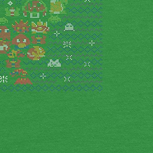 Planet Nerd - Game Over Stitches - Herren T-Shirt Grün