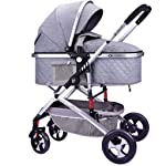 Baby Stroller Baby Stroller Luxury Stroller For Baby Carriages Folding Baby Pram Lightweight Baby Pushchair Two-way Shock...