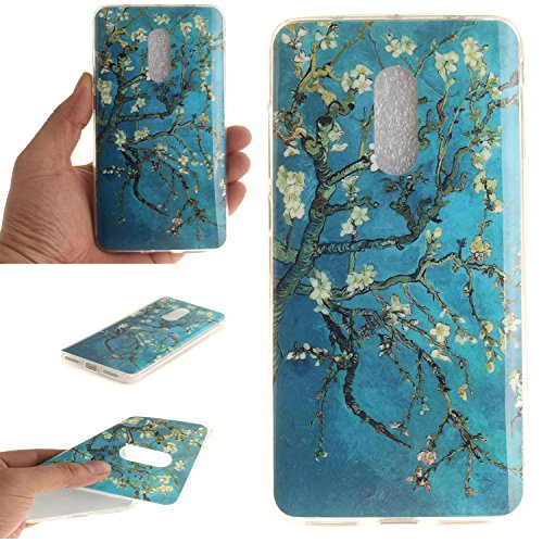 Price comparison product image For Xiaomi Redmi Note 4 Case Cover,  Ecoway TPU Clear Soft Silicone Back Colorful Printed Pattern Silicone Case Protective Cover Cell Phone Case for Xiaomi Redmi Note 4 - Apricot tree