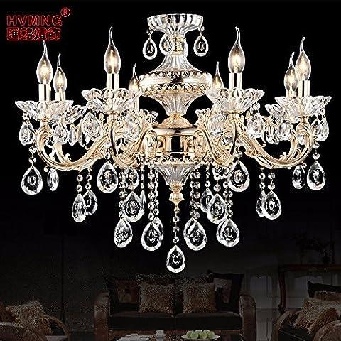 YUPX Lampadario Soffitto moderne tonalità di luce con effetto cristallo lampadario di gioielli lampadari Lampada sospensione da soffitto,8Head 62*71CM