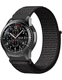 Fintie Bracelet for Galaxy Watch 46 mm / Gear S3 Frontier/Gear S3 Classic - Premium Nylon Breathable Replacement Watch Strap with Adjustable Clasp