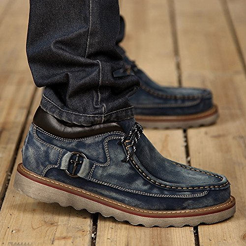Unbekannt YIXINY Schuhe Sneaker L-2888 Freizeitschuhe Männer Winter Britischer Stil Wildleder + TPR rutschfest Wasserdicht Warm Bleiben Reisen Im Freien 3 Farben (Farbe : 3, größe : EU43/UK9/CN44) -
