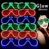 MuLucky Unisex Fashion Plastic Glow Licht LED leuchten Schattierungen Spielzeug Gläser Party Favors...