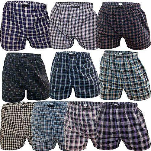 SGS 5-10er Pack Baumwolle Unterhosen Männer Boxershorts Men (9/ 3XL,10.Stück)