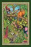 Toland Home Garden Leopard Lair 31,8 x 45,7 cm Deko Tropische Dschungel Tier AFFE Vogel Blume Garten Flagge