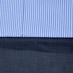 Gwalior Mens Executive Shirt(2.50 meters) and Trouser Fabric(1.25 meters) Unstitched Combo Blue (VF01)